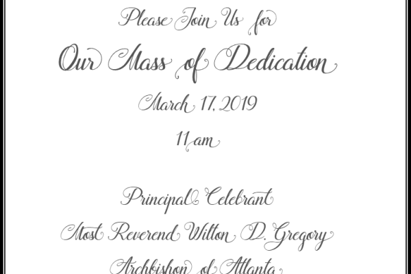 Dedication Mass and Reception