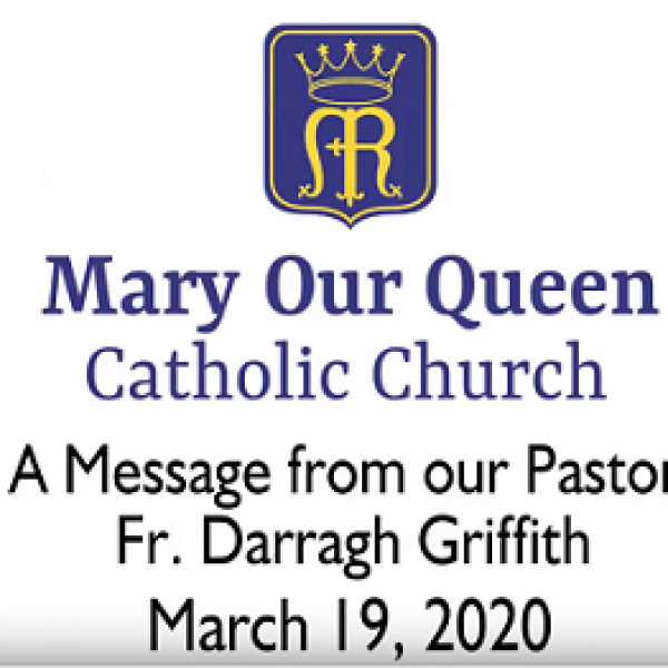 A Message from Father, March 19, 2020